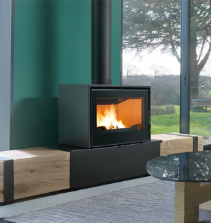 Axis I1000 Freestanding Wood Fireplace