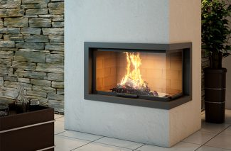 Axis H1200 VLD Inbuilt Wood Fireplace
