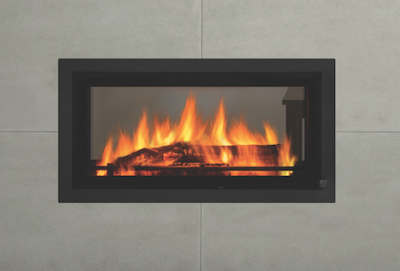REGENCY MANSFIELD DOUBLE SIDED INBUILT WOOD FIREPLACE