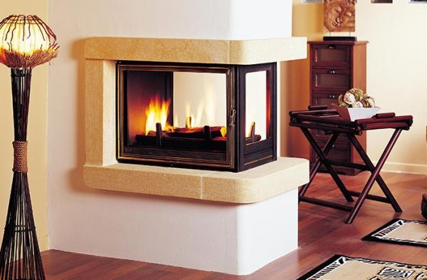SEGUIN MULTIVISION 8000 THREE SIDED CAST IRON FIREPLACE