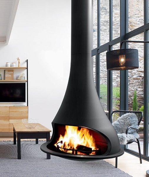 Bordelet Tatiana 997 Suspended Wood Fireplace
