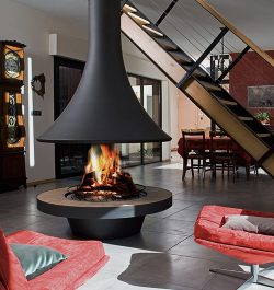 EVA 992 SUSPENDED WOOD FIREPLACE