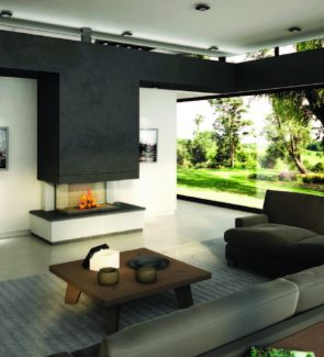 Axis H1200 3V Inbuilt Wood Fireplace
