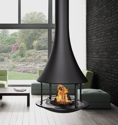 ZELIA 908 SUSPENDED WOOD FIREPLACE